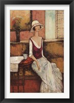 Le Caf Rouge Framed Print