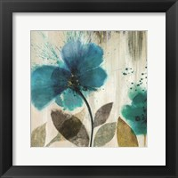 Framed Teal Splash II - Mini