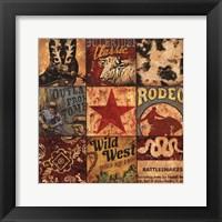 Framed Cowboy Collage