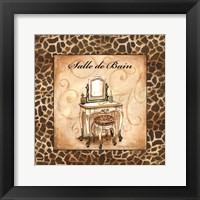 Giraffe Salle de Bain Framed Print