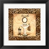 Framed Giraffe Lavabo