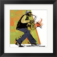 Framed Sax Player - mini