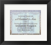 Framed French Soap Label II