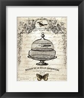 French Birdcage I Framed Print