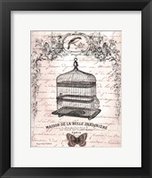French Birdcage II Framed Print