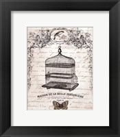 Framed French Birdcage II - mini
