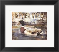Duck Sign I - petite Framed Print