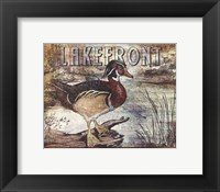 Duck Sign II - petite Framed Print