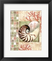 Mosaic Shell Collage I - mini Framed Print