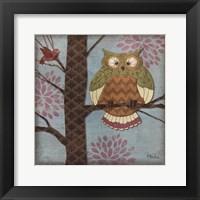 Fantasy Owls I Framed Print