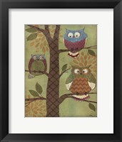 Fantasy Owls Vertical I Framed Print
