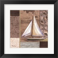 Santa Rosa Boat I Framed Print