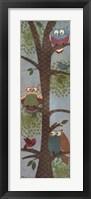 Fantasy Owls Panel II Framed Print