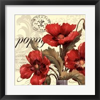 Red & White I Framed Print