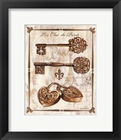 Keys to Paris I Framed Print