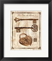 Keys to Paris II Framed Print