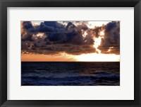 Framed Depoe Bay Sunset II