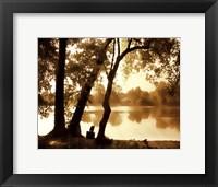 Framed River Oaks I - mini