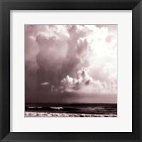 Framed Ocean Storm I Sq. BW