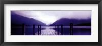 Framed Serene Dock I - grande