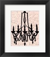 Framed Chandelier Calligraphy I - mini