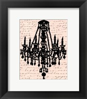Framed Chandelier Calligraphy II - mini