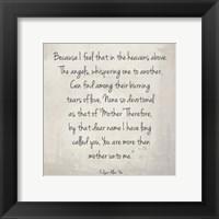 Framed More Than Mother by Edgar Allan Poe