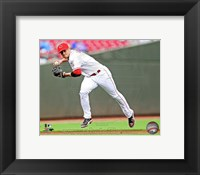 Framed Zack Cozart in action 2013