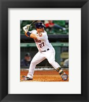 Framed Jose Altuve 2013 Action