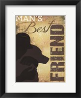 Man's Best Friend Framed Print