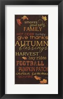 Framed Autumn Blessings