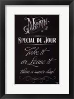 Framed Soup Du Jour