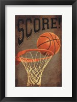 Framed Score Basketball
