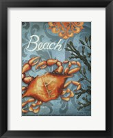 Framed Beach Crab