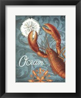 Framed Ocean Lobster