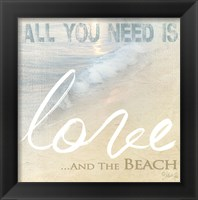 Love And The Beach Framed Print