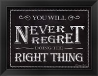 Framed Never Regret