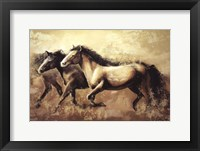 Framed Galloping Horses