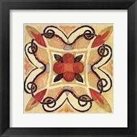 Framed Bohemian Rooster Tile Square I