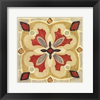 Framed Bohemian Rooster Tile Square III