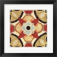 Framed Bohemian Rooster Tile Square IV