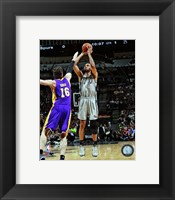 Framed Tim Duncan 2012-13 Playoff Action