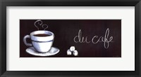 Chalkboard Menu I- Cafe Framed Print
