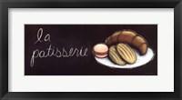 Chalkboard Menu II- Patisserie Framed Print