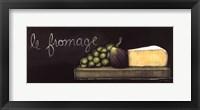 Chalkboard Menu III- Fromage Framed Print