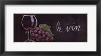 Chalkboard Menu IV- Vin Framed Print
