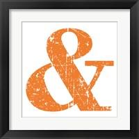 Orange Ampersand Framed Print