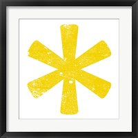 Yellow Asterisk Framed Print