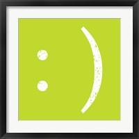 Framed Lime Smiley