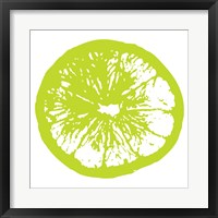 Lime Orange Slice Framed Print